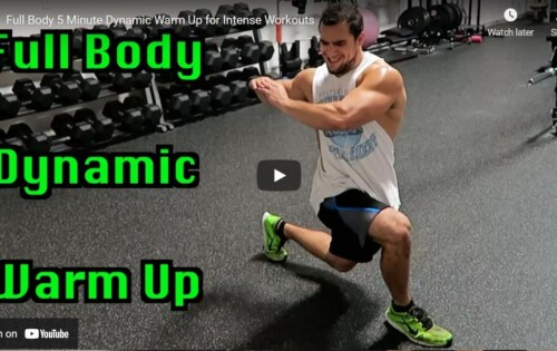 Warm-up for Men before an intense workout