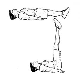 Lying Floor Leg Raise